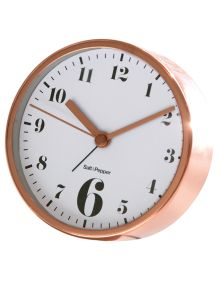 Salt&Pepper Zone Round Alarm Clock, 11cm, Rose Gold product photo