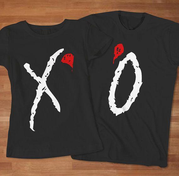 XO Band Logo Couple TShirt  Awesome Couple TShirt by Sarimbittees, $39.00
