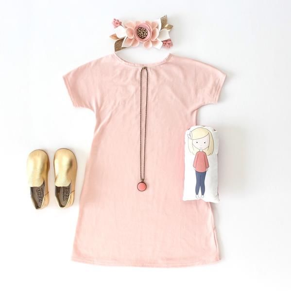 Blush Any Wear Dress for girls - Little Faces Apparel. Baby girl pink dress, baby shower girl gifts, toddler outfits, hipster baby, shop small, toddler girl fashion.