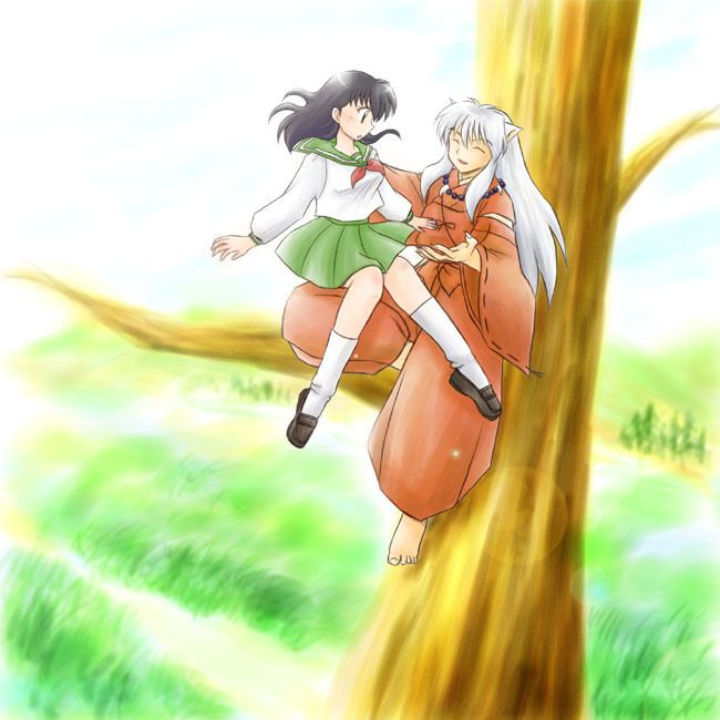 Kagome Sitting By Devicemodder On Deviantart: 14 Best Images About InuYasha And Kagome On Pinterest