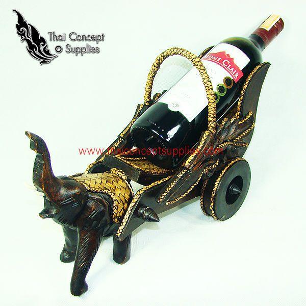 Бутылки вина держатель : слон - конном экипаже дерево модели - тайский старинных резьба по дереву для домашнего декора-Ведра, Охладители & Держатели-ID продукта:157210889-russian.alibaba.com
