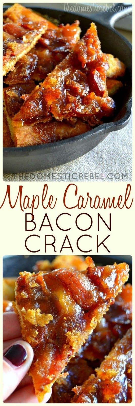 This Maple Caramel Bacon Crack is to-die for! Such an easy, foolproof Anyway. If there's one thing I want to eat before I die, it's definitely this Maple Caramel Bacon Crack. It's highly addictive and extremely delicious. Smoky, sweet, crunchy, buttery, chewy — the perfect conglomerate of badassness #maple #caramel #bacon #crack #easyrecipes