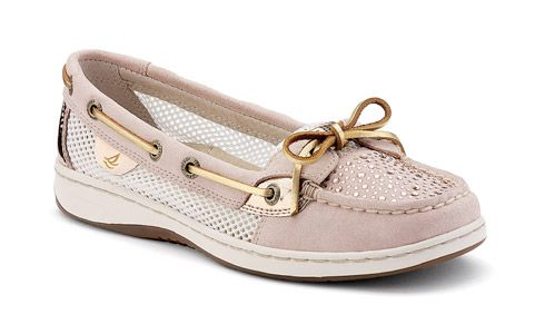 #christmas #blackfriday #giftguide My hip 15 year old niece is asking for these, so I'm guessing they are popular with the teen crowd --> Sperry Top-sider Women's Angelfish Slip-On Boat Shoe (Light Rose Suede Rhinestone). This is a good deal on a sweet pair of shoes.