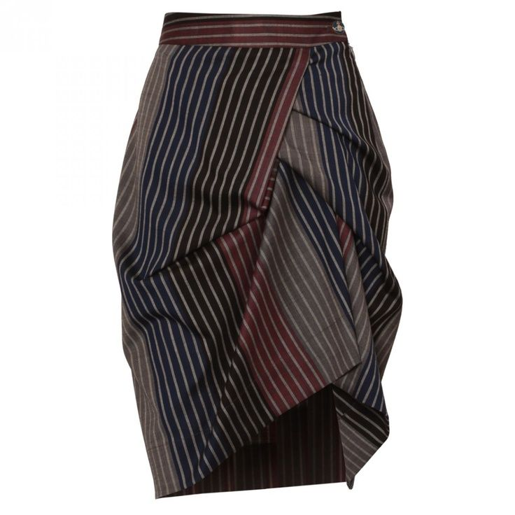 Vivienne Westwood Red Label Asymmetric Skirt Stripe