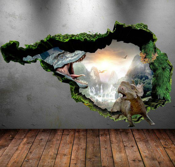 Trex Wall Art T Rex Wall Sticker T Rex Wall Hanging Etsy