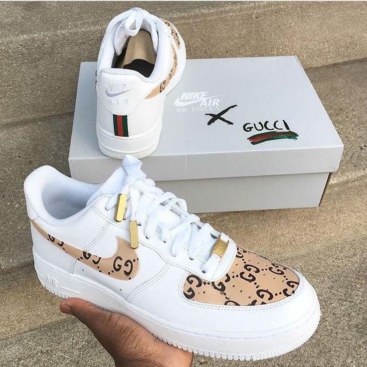 "Nike Air Force 1 ""Gucci custom"" FOLLOW"