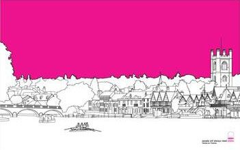 Two designs available. Henley Town: Maroon, Blue Henley River: Pink Price: £10.00    Henley Screenprint. Colours: Teal, Pink, Purple Price £10.00   Smaller blade desig…