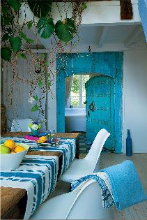 Deco chambre indienne bleu for Chambre indienne