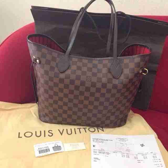 Brown/Beige Louis Vuitton Bag Neverfull #Louis #Vuitton #Bag