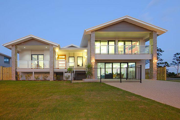 Contemporary queenslander house designs split level for Home designs brisbane