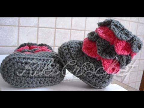 This is an english tutorial, on how to crochet crocodile stitch booties!!! Enjoy! :D