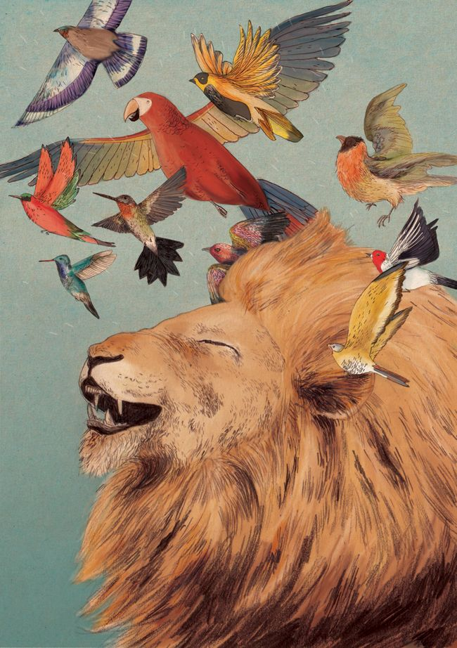 Lizzy Stewart - The Lion's Laugh >> love this imagery!