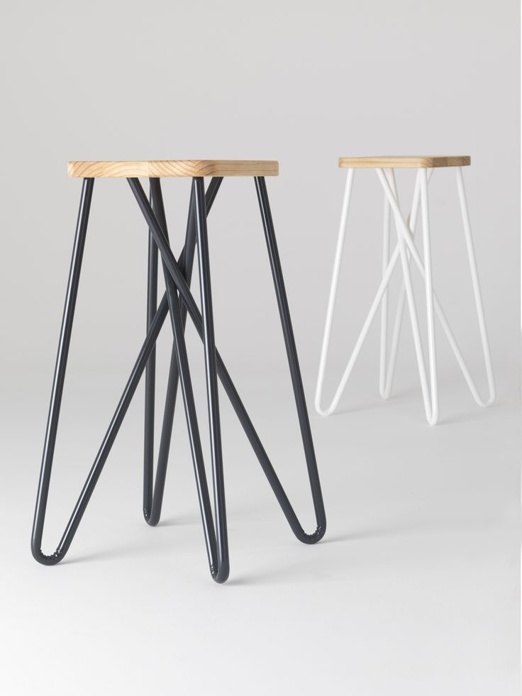 Loving these new Tangle bar stools by Clark Bardsley Design. The stool's looped legs provide a comfortable resting place for feet without the need for footrests.