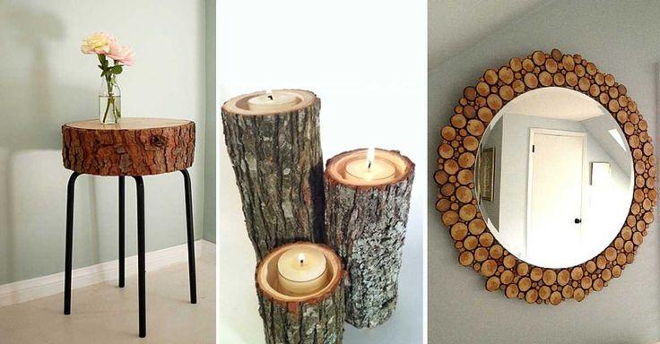 19 neotřelých nápadů na dekorace ze dřeva do domu i zahrady