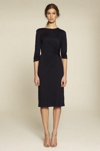 Collette Dinnigan Wool Jersey Side Drape Dress