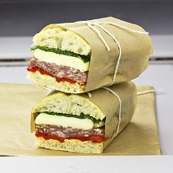 PRESSED ITALIAN SANDWICHES - True Italian colours. Great for picnic, serve them hot or cold!