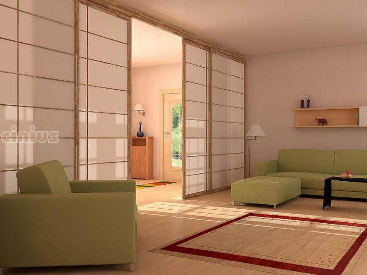 PARETI e PORTE scorrevoli Shoji tradizionali giapponesi, prodotte su misura anche per mansarde a soffitto inclinato
