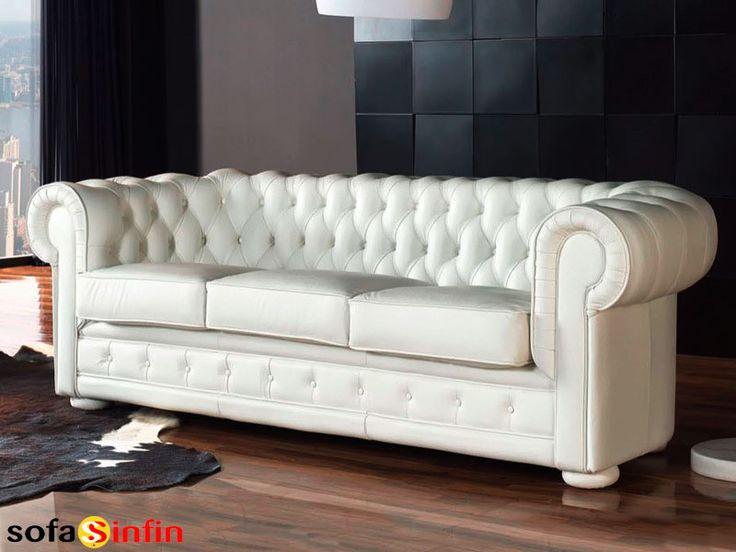 Sofá clásico de 3 y 2 plazas modelo Chester fabricado por Gamamobel en Sofassinfin.es