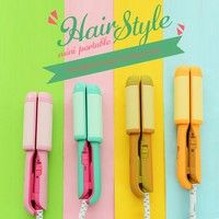Wish | 2017 Fresh Style Mini Straightning Electronic Wand Curler Crimper Styling Tools Curling Irons Portable Hair Curler Small Size 4 Colors YLL278/z45