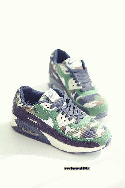 Nike Air Max 90 VT Boutique Officielle Chaussures de Running Pour Femme  Vert - Blanc -