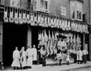 The Local Butchers, Wales. around 1900.