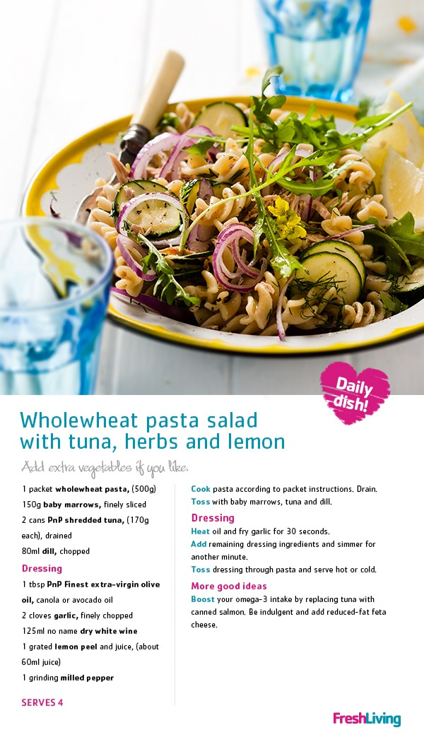 PASS-TA TUNA SALAD, PLEASE! This pasta dish is so good, you won't have to fish for compliments!  #dailydish #picknpay #freshliving #pasta #wholewheat