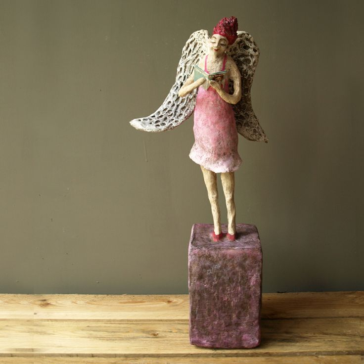 17 best images about paper mache angel on pinterest the for Art made of paper