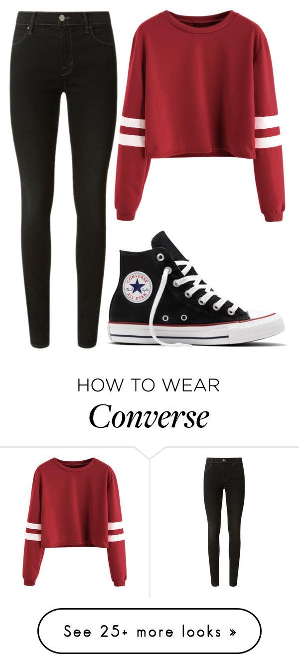 """""""Please Read The Description"""" by moonlight-princess-of-the-stars on Polyvore featuring J Brand and Converse"""