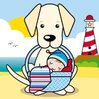 Geboortekaartje voor de strand liefhebber door Gribbeltje