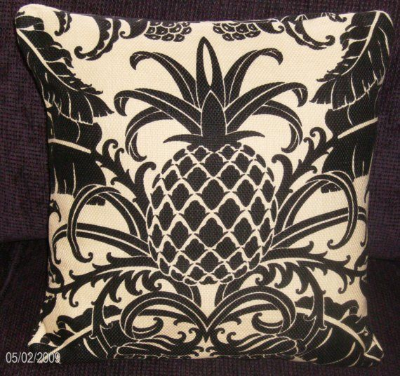 2 Tommy Bahama Decorator Fabric Pineapple Pillow by MermaidBaby
