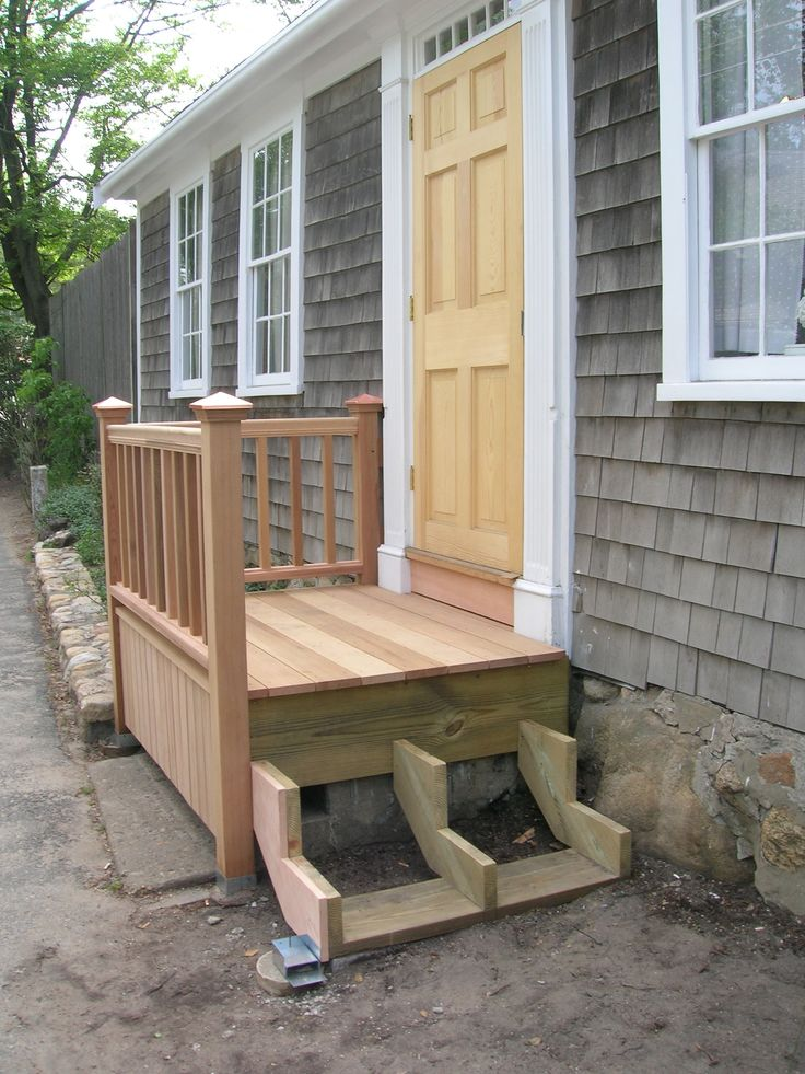 25 best ideas about front steps on pinterest front door for Front entry decks