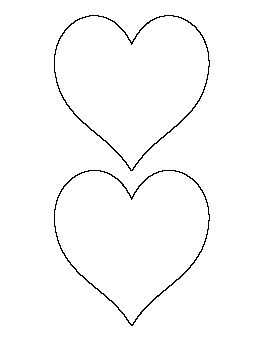 heart template for sewing - 5 inch heart pattern sewing pinterest heart patterns