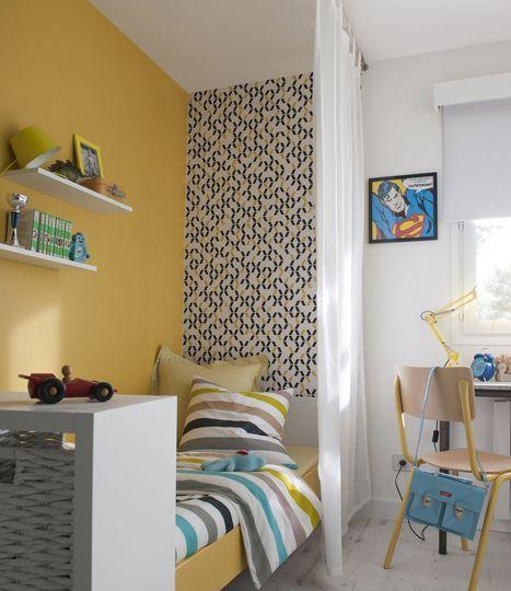 Une touche de jaune dans une chambre d'enfant - Peinture : le jaune déride la déco - CôtéMaison.fr