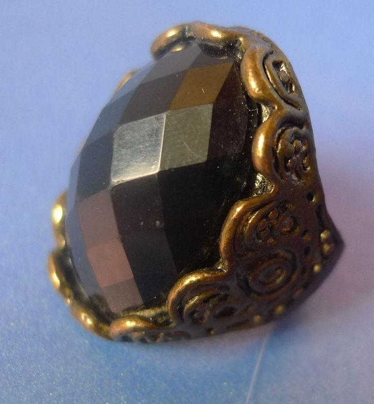 Vintage Retro Old Jewelry Fashion Bijoux Bijouterie Bif RING Size 8