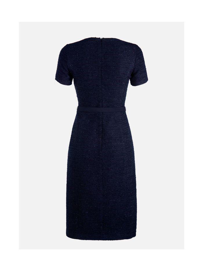 Audrey - marine - Tweed jurk | LaDress