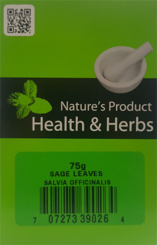 Natures Product Health & Herbs Sage Leaves 75g Salvia Officinalis
