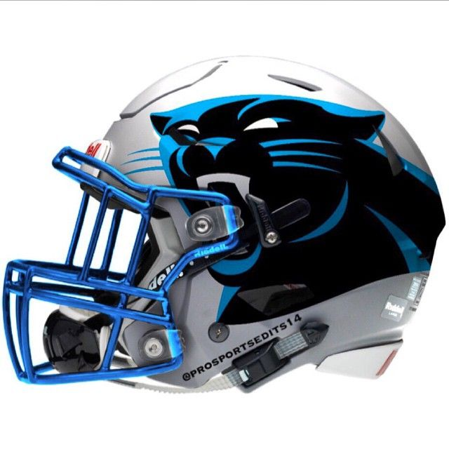 Carolina Panthers concept design NFL football helmet