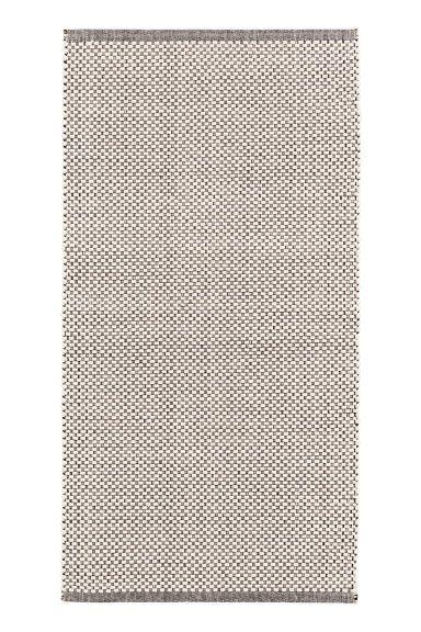 Katoenen vloerkleed met dessin - Gebroken wit/zwart - HOME | H&M NL 1