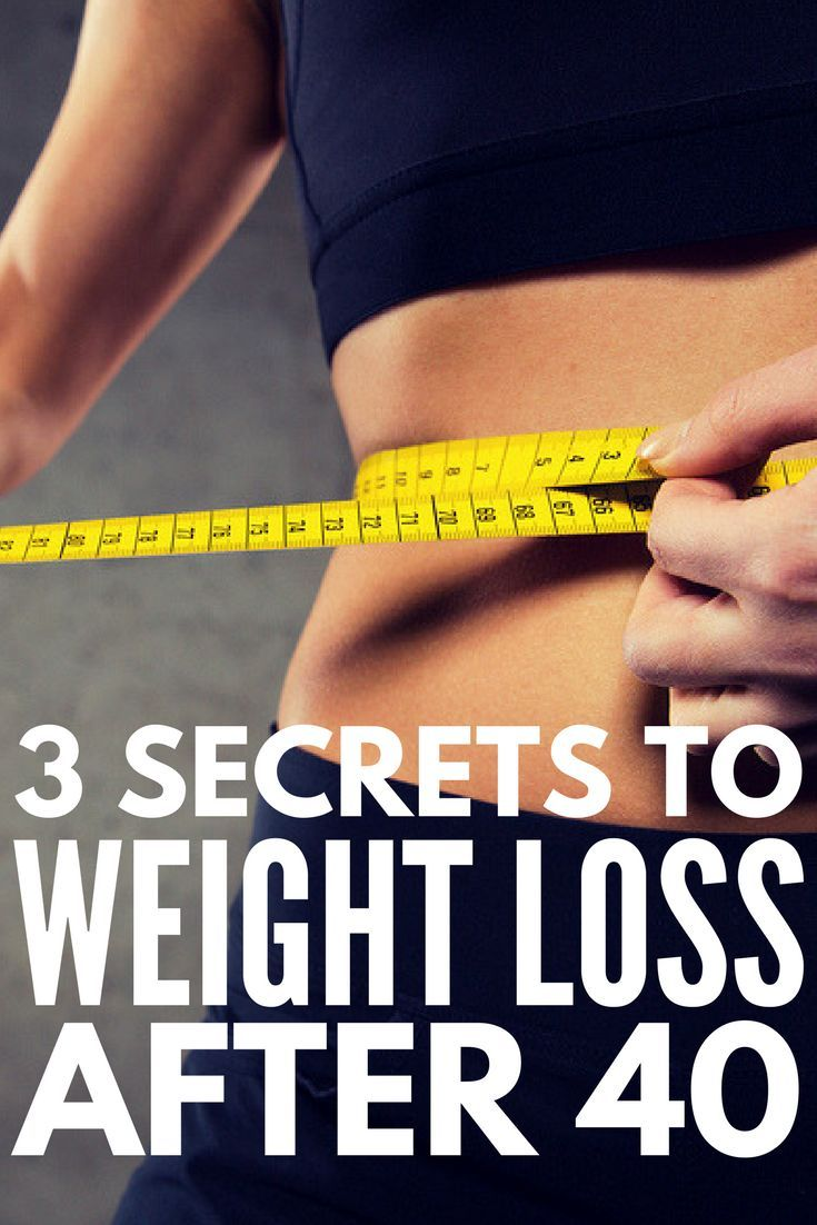 secrets to weight loss after 40