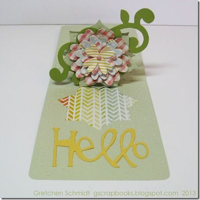 Tutorial featuring some pretty spring colors from The Sweetest Thing collection by @MME inc inc, the @Sizzix Poinsettia Pop `n Cuts die insert by @Karen Burniston and the Flower Layers with Heart Petals by @Eileen Hull.