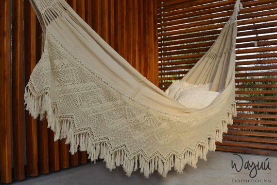 Wayúu Hammock Tamarindo extra double hammock by wayuuhammocksshop