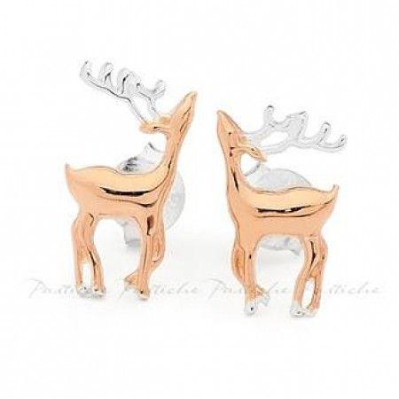 Christmas Silver Reindeer Earrings #christmas #coolstuff #jewelry #jewellery