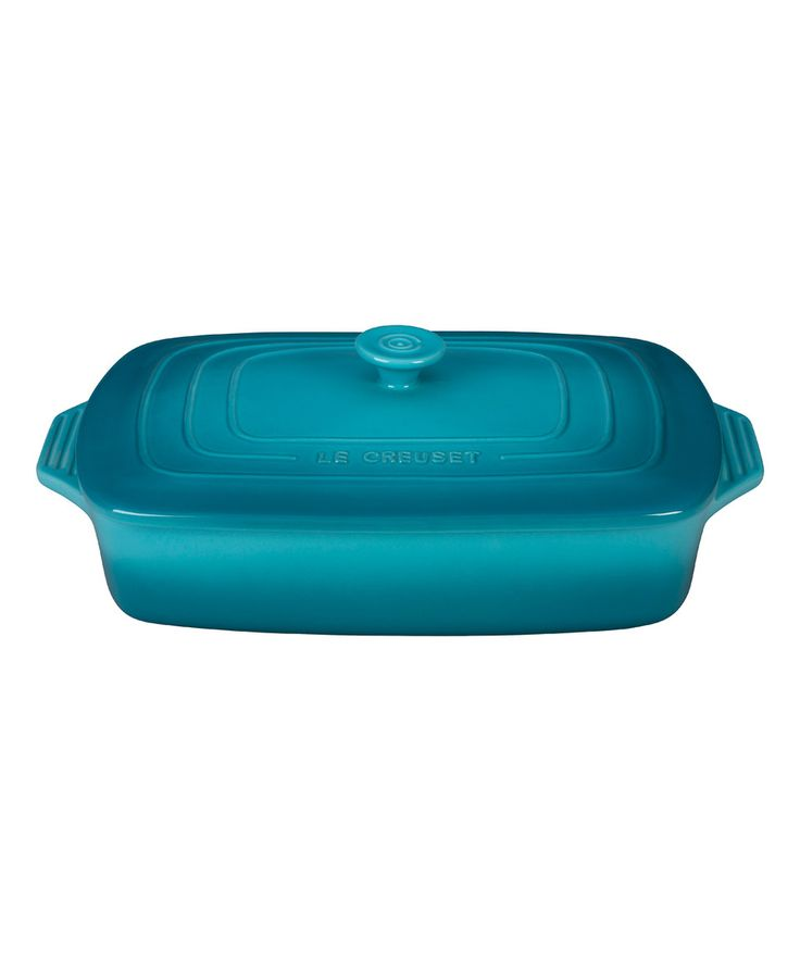 Another great find on #zulily! Caribbean Covered 3.5-Qt.  Rectangular Casserole Dish by Le Creuset #zulilyfinds