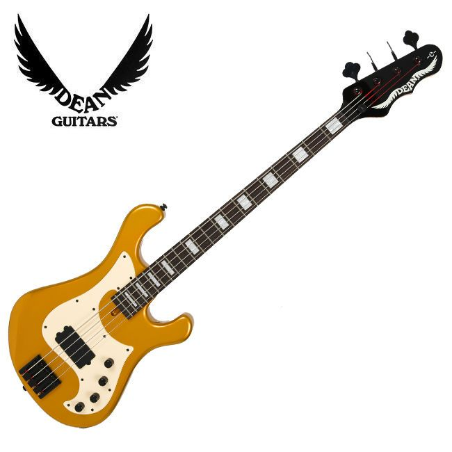 Dean Eric Bass Signature Hillsboro Electric 4String Bass Metallic Gold Shinedown #Dean