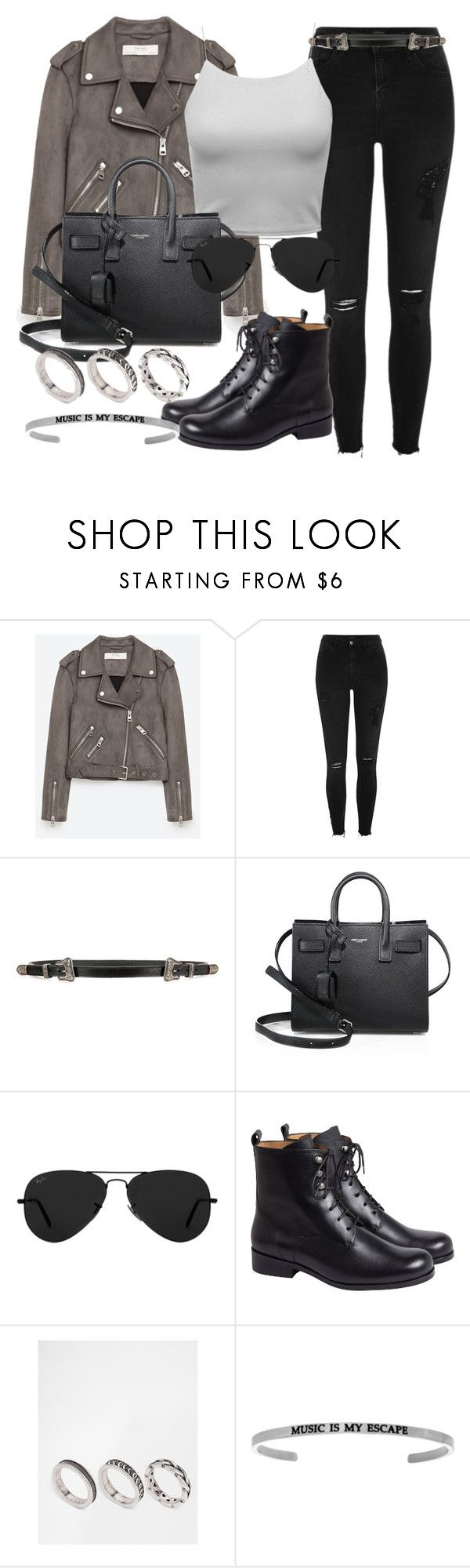"""""""Style #11648"""" by vany-alvarado ❤ liked on Polyvore featuring Jakke, River Island, Yves Saint Laurent, Ray-Ban, agnès b. and ASOS"""