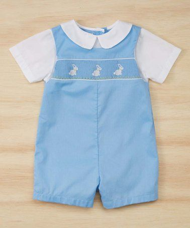 Love this Blue Bunny Smocked Romper - Infant on #zulily! #zulilyfinds