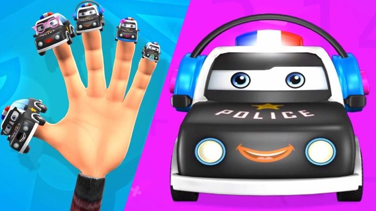 3D Police Car Finger Family Song | Nursery Rhymes for Children | TinyDre...