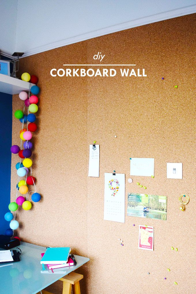 DIY Corkboard Wall                                                                                                                                                                                 More