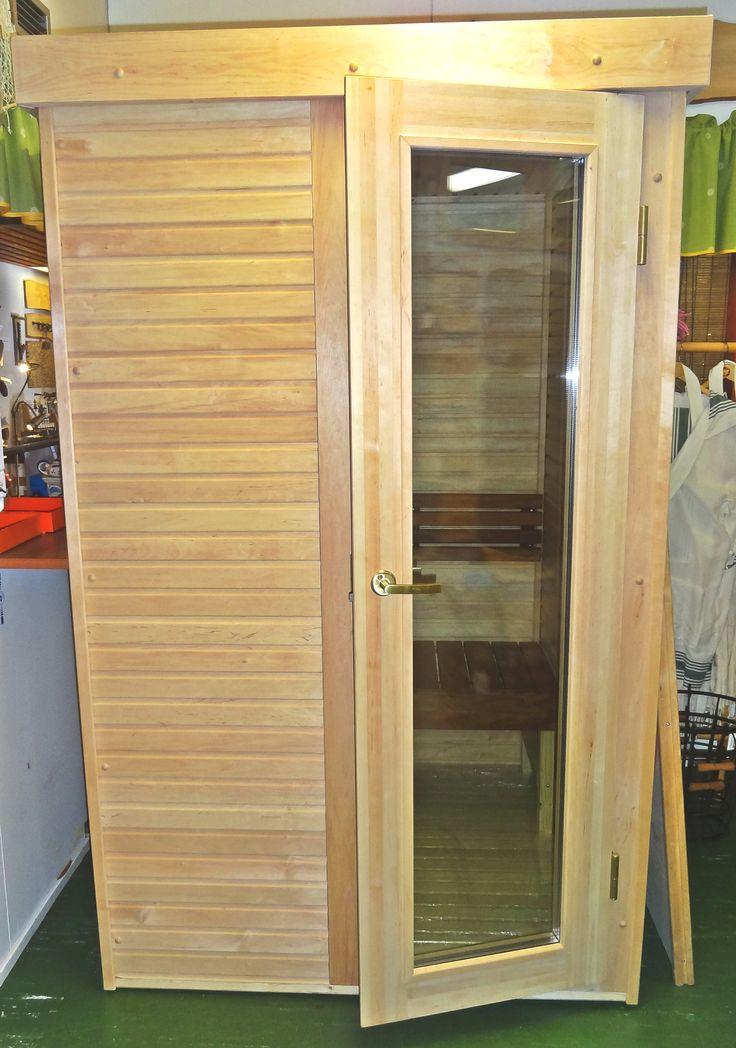 Infrared sauna in our factory shop  www.saunalahja.fi