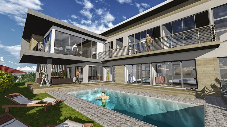 House Mphakathi. Residential architectural design